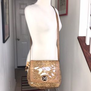 Vintage 1980's Sharif Designs Snake/ Chetah bag 😘